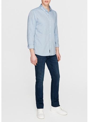 Mavi Cepsiz Gömlek Mavi